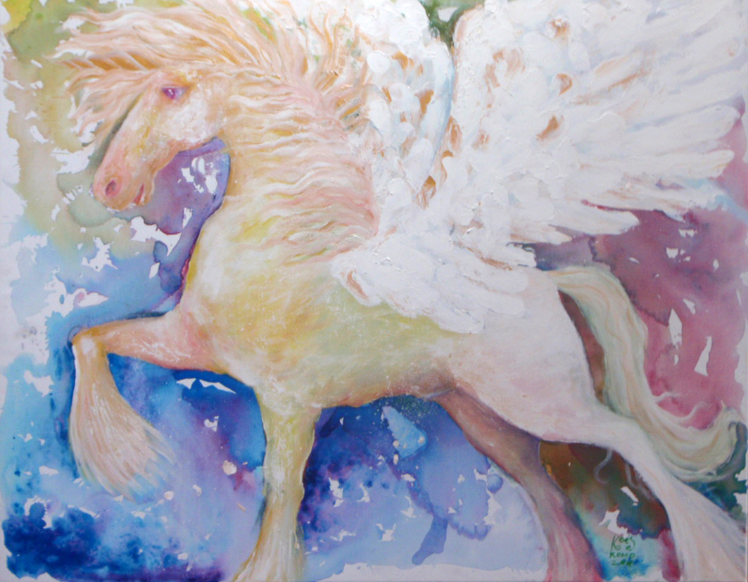 pegasus (acrylic on canvas 70 x 90 cm)